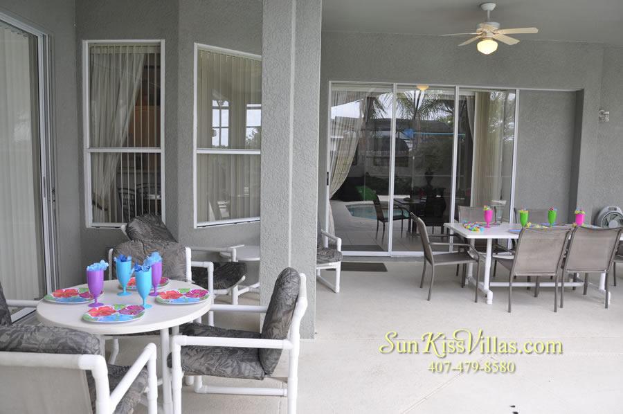 Disney Villa Rental - Heron Bay - Covered Lanai