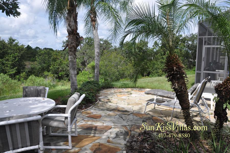 Disney Villa Rental - Heron Bay - Patio