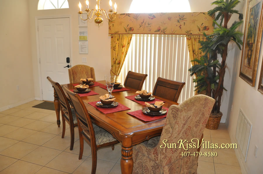 Disney Villa Rental - Heron Bay - Dining
