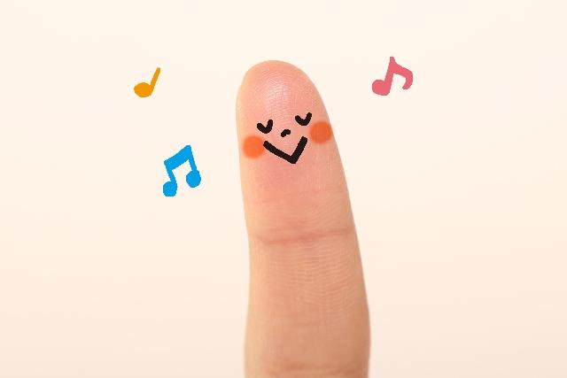 音楽を楽しむ指