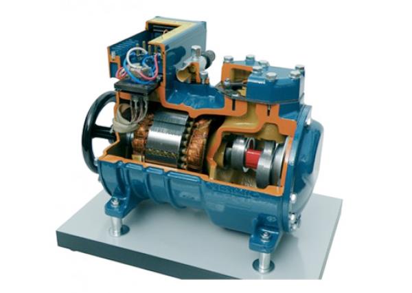 Cut Section Model Of Semi Hermetic Compressor