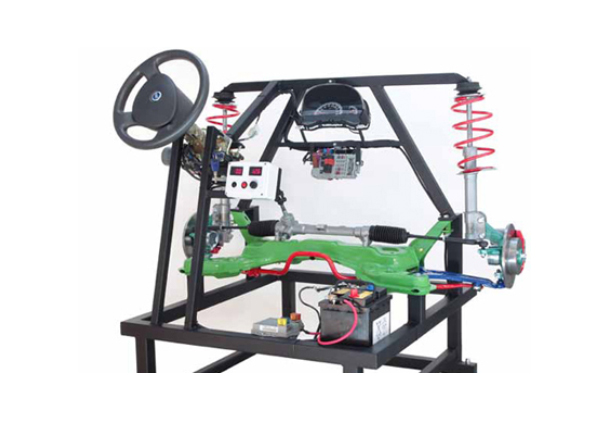 Working Model Of Power Steering With Suspension