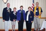 Pictured left to right are District Governor Elect Lion Larry Palmer and current District Governor Lion Sally Hanson from Sun Lakes Lions Club, Lions Clubs International Director Lion Judy Hankom from Hampton, Iowa and from South Tucson Lions Club, First Vice District Governor Elect Lion Barbara Daily and Second Vice District Governor Elect Lion James Whelan.