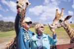 """Vic and Joanna Herman had a """"Staycation"""" Roar and Snore at the San Diego Wildlife Animal Zoo!"""