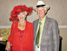 Jean and Bill Fee are ready to celebrate the Mint Julep Ball at the recent Cotillion Dance.