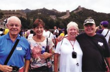 John and Ellie Concannon and Julie and Ken Collier at the Great Wall