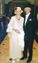 Lady Beverly Shaw, escorted by Sir Harold Lindell, enjoyed an Evening at Downton Abbey, the Cotillion's November event.