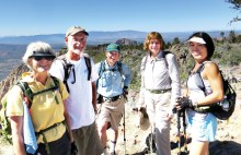 Members of the Sun Lakes Hiking Club take a break!