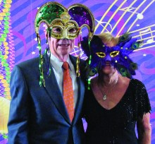 Come to the Masquerade Ball with Bob and Jacquelyn Peterson.