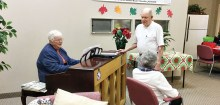 Our clients enjoy the piano playing of Donna Anderson when she visits monthly!