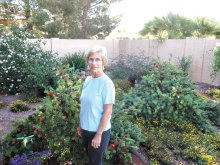 Nancy Mumpton in her xeriscape garden