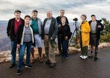 Sun Lakes Camera Club members at the Grand Canyon in July (photo credit Lynn Thompson).