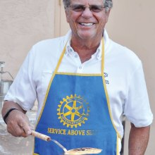 Rotarian Rowen Floth, our head flipper.