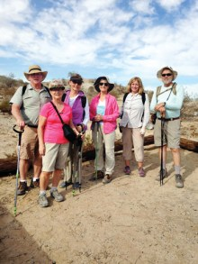 New hikers and veterans enjoying a recent orientation hike.