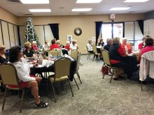 Cottonwood Lady Niners celebrate the season with a luncheon.