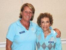 2016 Most Improved Player Debra Burns (left) and 2017 President Margaret Johnson
