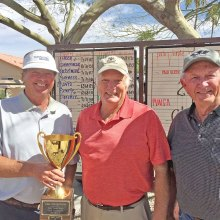 Pictured (left to right) are 2017 PVMGA Club Champion Jerry Davis, runner-up Jack Hill and Masters Champion Gary Whiting.
