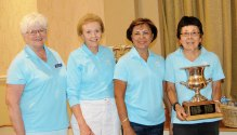 Club Championship winners (left to right) Sheila Bossio, Phyllis Madison, Cora Levensky and Joyce Parker