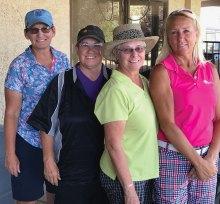 Summer Golf League with Nancy Field, Karen Kolis, Linda Ryland and Judy Wegener