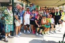 Sun Lakes Pickleball Club Cottonwood does it Hawaiian Style at their Summer Social!