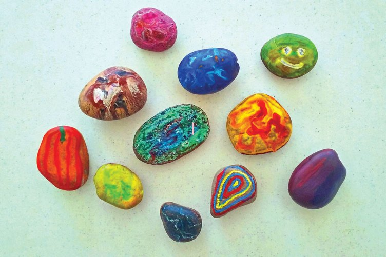 Paint rocks at Rock Camp