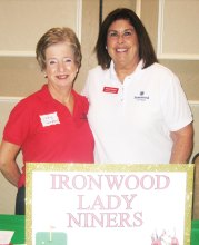 Judy Thompson and Denise Fleshner with ILWN at the Activities Open House