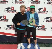 Bev Krueger, IronOaks and Marty Trifonoff, Hunting Beach, CA, won the Gold Medal in the Women's 3.5 Doubles at the Pickleball Southwest Championships.