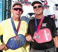 David Zapatka, Sun Lakes, and Jim Barbe won the Silver Medal in the 5.0 65-69 Men's Doubles at the USAPA Southwest Regional Tournament in Surprise, AZ.