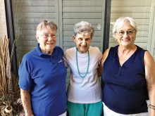 Left to right: Donna Quinn, Eleanor Woodman and Sharon Horton, former Crystal Award recipients from Sun Lakes Country Club