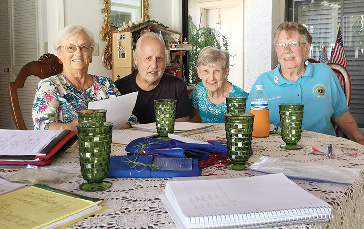 Left to right: Sharon Horton, Denis White, Eleanor Woodman, and Donna Quinn, Sun Lakes Country Club members of the Crystal Award Selection Committee