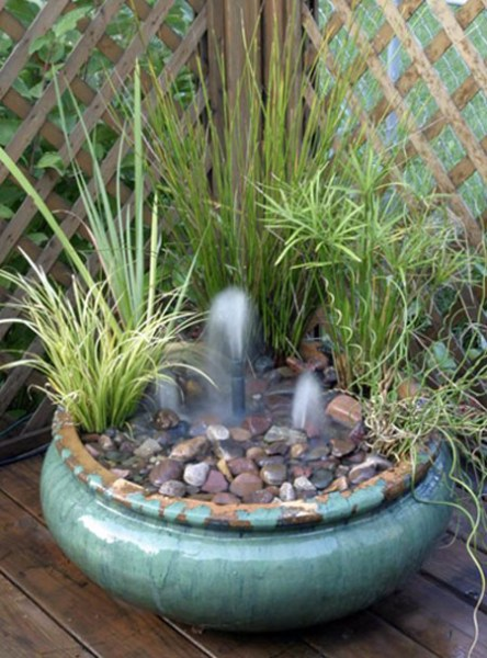 small water garden fountain ideas Big ideas in little spaces: Water gardening in a small area