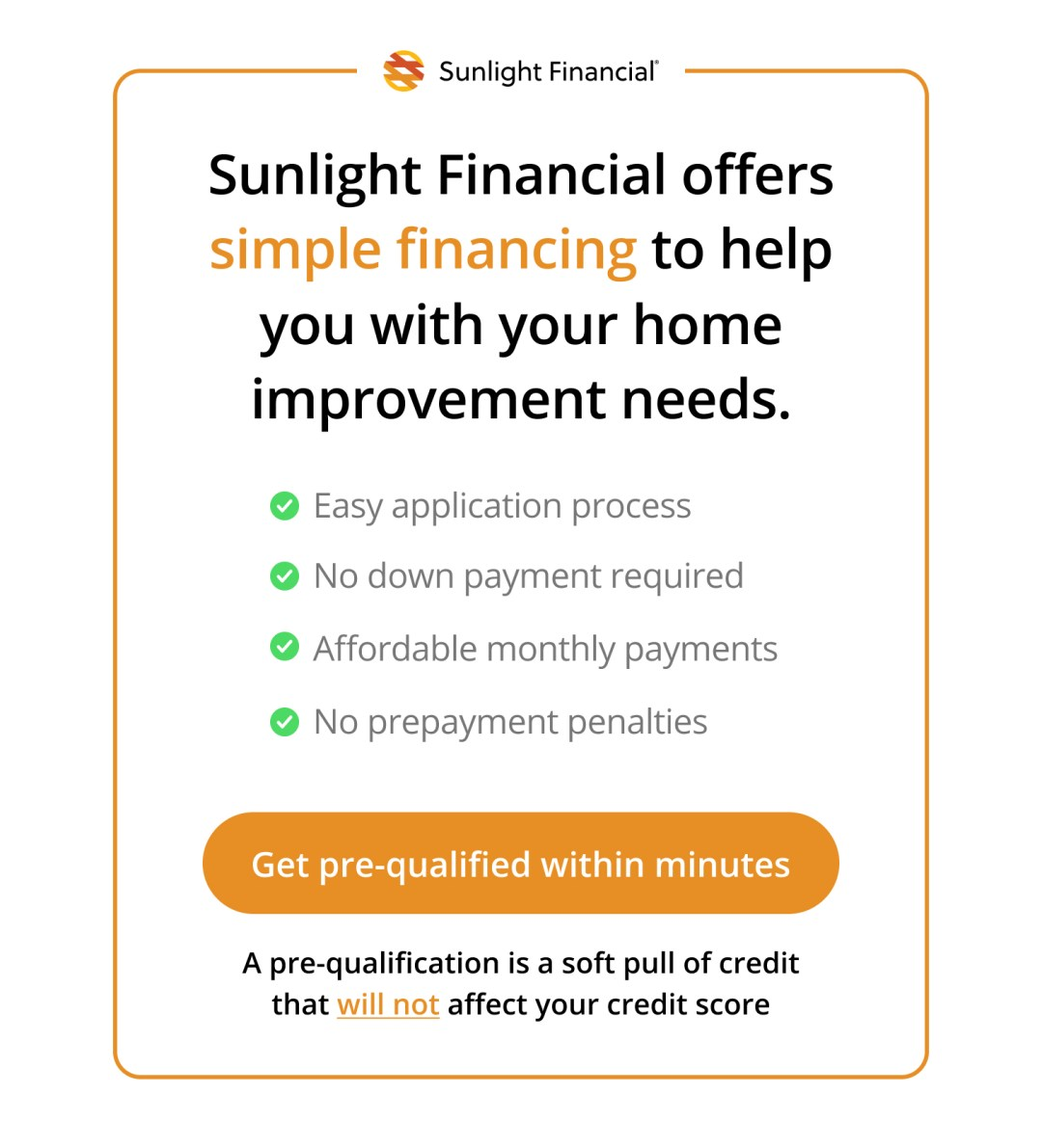 Get Pre-qualified for a Sunlight Financial loan