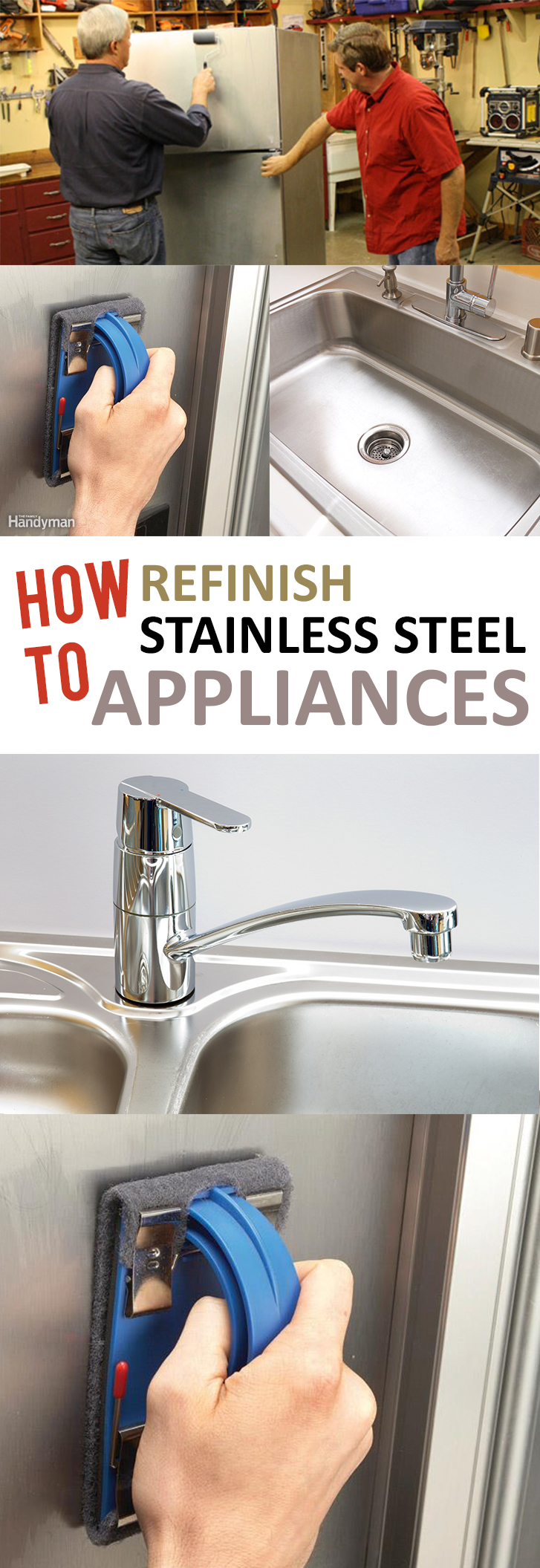 to refinish stainless steel appliances