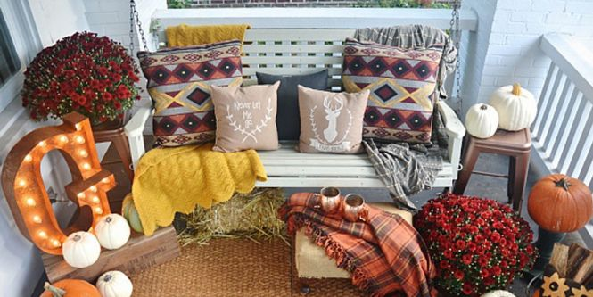 Fall Porch Decorating Ideas By The Wood Grain Cottage