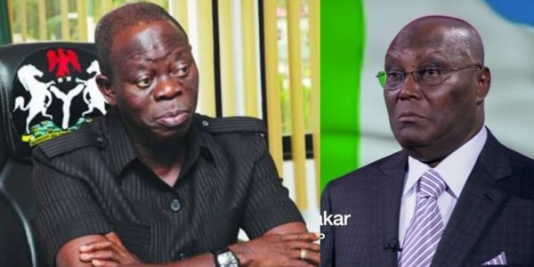 Oshiomhole mocks Atiku: You are destined never to be Nigeria's president
