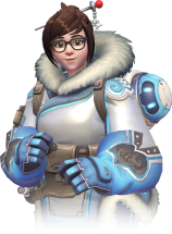 joyful, committed to her work for the greater good (Mei, Overwatch)