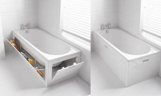 ванная со стенками, которые открываются
