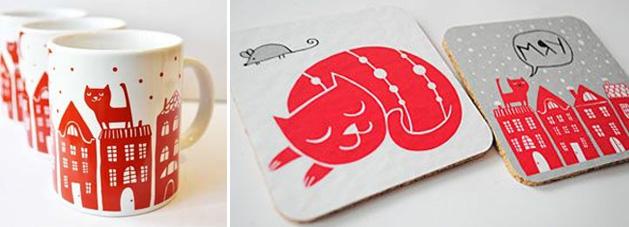 чашки redcatshop