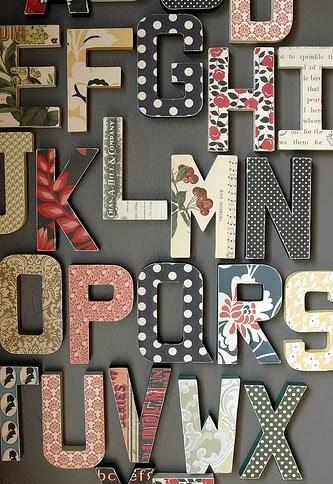 Использование букв и слов в интерьере via sunniest.ru