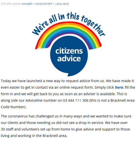 Citizens Advice - New Way to Get Advice