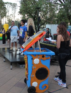Seahorse bin sold to Communities NSW 2011 at a Youth Week event at Mount Druit