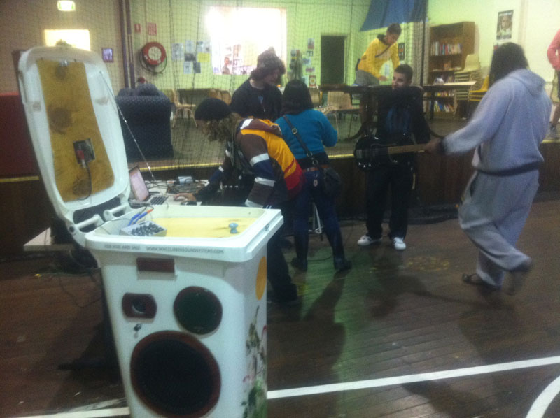 Glebe Youth Centre Sunny Bin music workshop