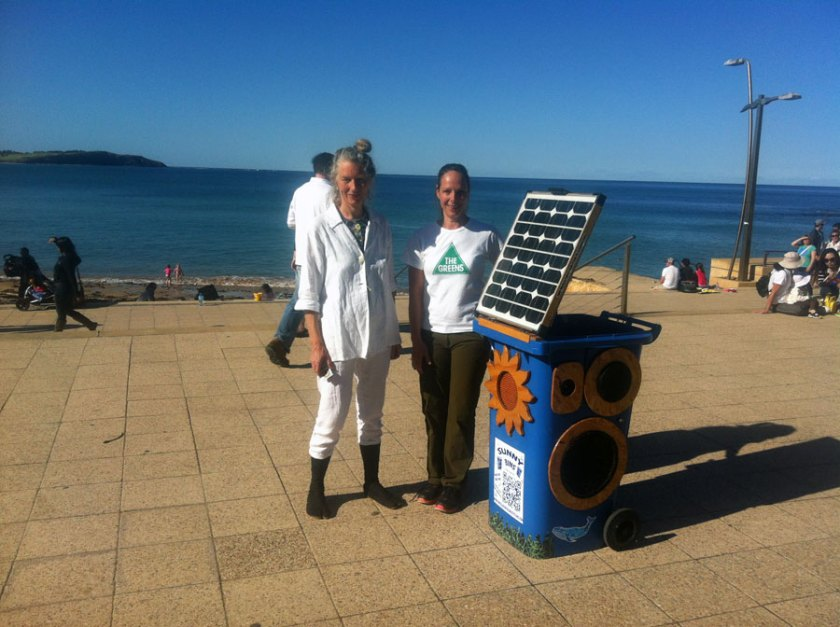 Greens Flash Mob in Dee Why