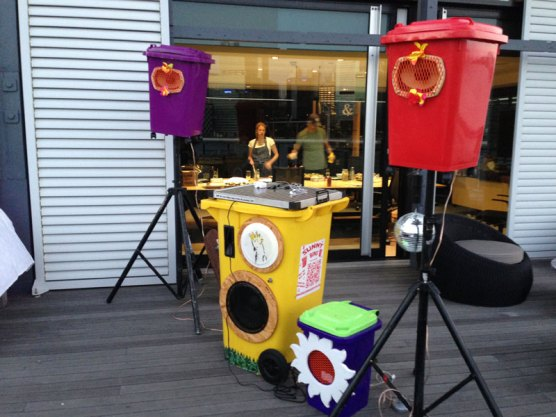 Sunny bins sound system in action