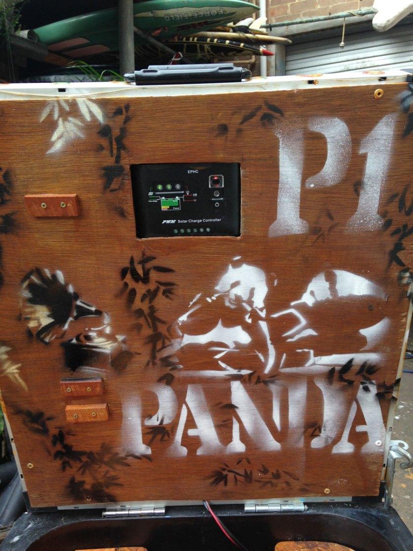 The Panda themed bin ready to rock