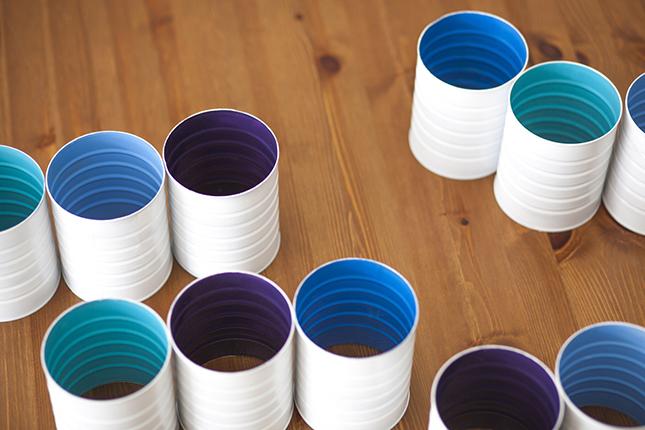 DIY ράφι κρασιών από κουτιά καφέ4
