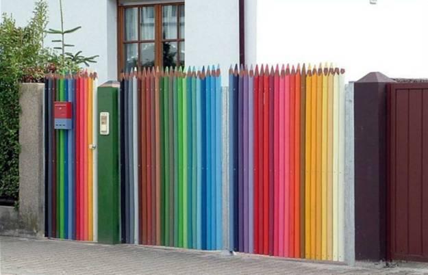Πολύχρωμες Ιδέες για φράχτες10