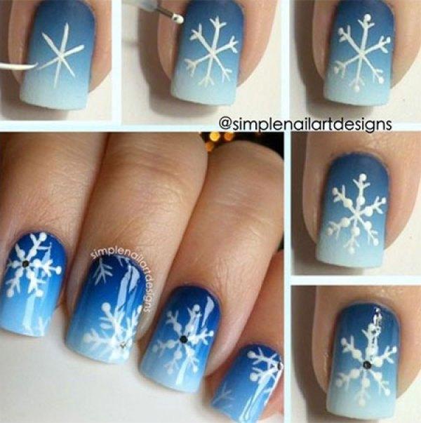 Χαριτωμένες DIY Ιδέες τέχνης νυχιών για τα Χριστούγεννα19