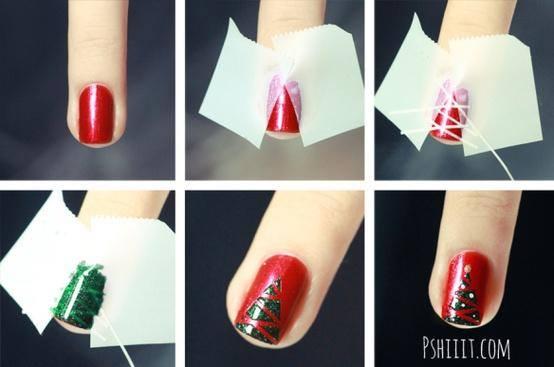 Χαριτωμένες DIY Ιδέες τέχνης νυχιών για τα Χριστούγεννα2