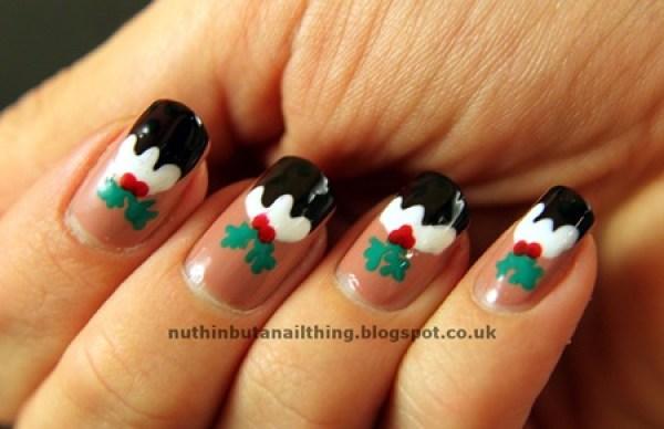 Χαριτωμένες DIY Ιδέες τέχνης νυχιών για τα Χριστούγεννα23